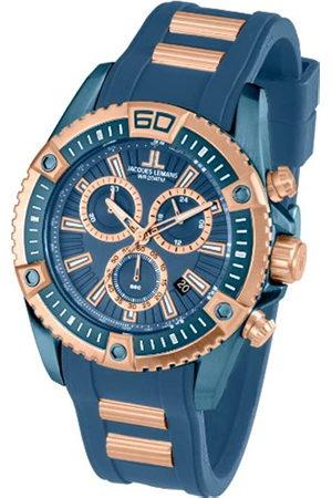 Jacques Lemans Liverpool Professional - Reloj de Cuarzo para Hombre, con Correa de Silicona