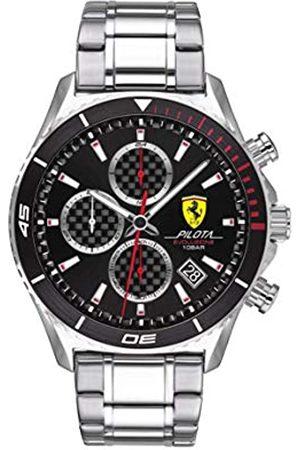Scuderia Ferrari Hombre Relojes - Reloj Analógico para Hombre de Cuarzo con Correa en Acero Inoxidable 0830772
