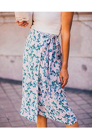 THE DROP Mujer Estampadas - Por @balamoda - Falda cruzada con estampado floral para mujer