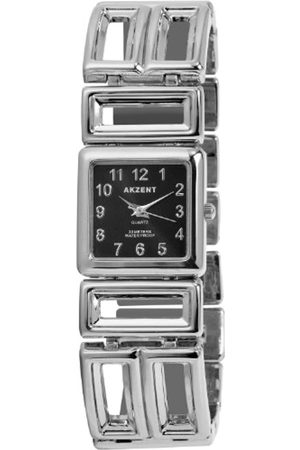 Akzent SS7121000072 - Reloj analógico de mujer de cuarzo con correa de aleación plateada - sumergible a 30 metros