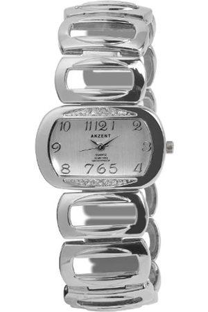 Akzent Mujer Relojes - SS7122500056 - Reloj analógico de mujer de cuarzo con correa de aleación plateada - sumergible a 30 metros