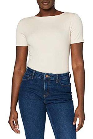 MERAKI Mujer Camisetas y Tops - Marca Amazon - Camiseta con Cuello Redondo Mujer, (Light Pink), 48