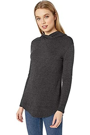 Daily Ritual Marca Amazon - Supersoft Terry Long-Sleeve Hooded Pullover camisa, /Raya Blanca