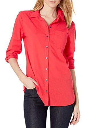 Goodthreads Cotton Dobby Long-Sleeve Button-Front Tunic Shirt Shirts