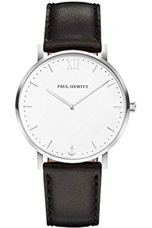 Paul Hewitt Hombre Relojes - Reloj de Caballero Sailor White Sand - Reloj de Hombre de Acero Inoxidable (Plata)