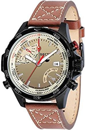 Sector No Limits Hombre Relojes - Reloj Analógico para Hombre de Cuarzo con Correa en Cuero R3251507001