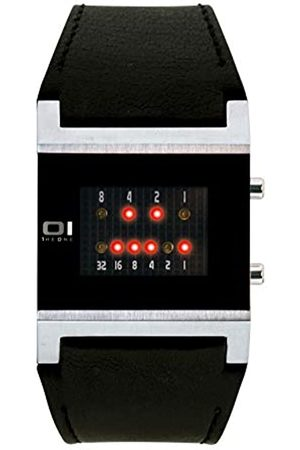 Binary THE ONE KERALA TRANCE KT102R1 - Reloj digital de caballero de cuarzo con correa de piel negra - sumergible a 30 metros