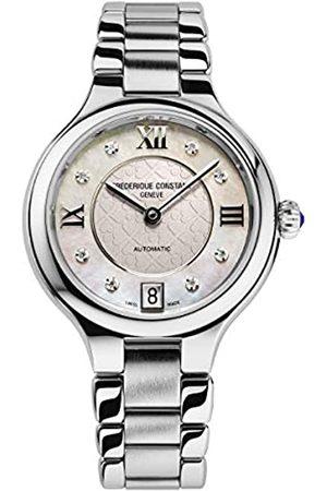 Frederique Constant Reloj Analógico para De Las Mujeres de Cuarzo Suizo con Correa en Acero Inoxidable FC-306LGHD3ER6B