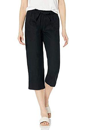 Amazon Pantalón Corto con cordón de Mezcla de Lino Pants