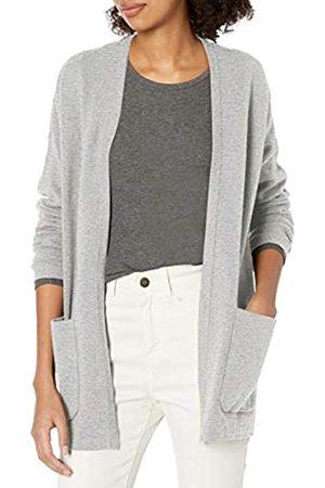 Daily Ritual Mujer Chaqueta de punto - Ultra-Soft Milano Stitch Patch Pocket Long Cardigan Sweater Sweaters