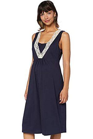 IRIS & LILLY Mujer Camisones y vestidos - Camisón sin Mangas de Algodón Mujer (Blue), M