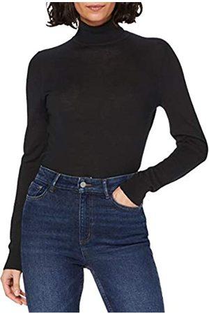 MERAKI Mujer Jerséis y suéteres - Marca Amazon - Jersey de Merino Mujer Cuello Alto (Black), 46