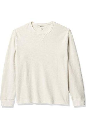 Goodthreads Marca Amazon - : camiseta térmica de manga larga con cuello redondo para hombre, (ivory)