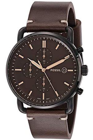 Fossil Hombre Relojes - Reloj Cronógrafo para Hombre de Cuarzo con Correa en Cuero FS5403