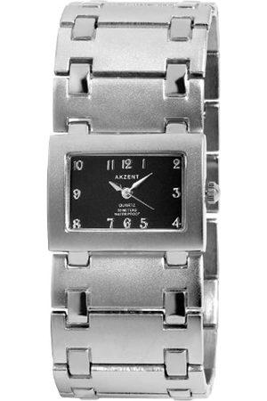 Akzent SS7122100054 - Reloj analógico de mujer de cuarzo con correa de aleación plateada - sumergible a 30 metros