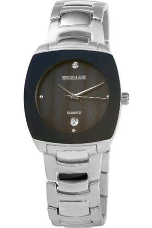 Excellanc Hombre Relojes - 284023000130 - Reloj analógico de caballero de cuarzo con correa de aleación plateada