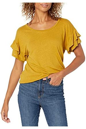 Goodthreads Mujer Tops - Linen Modal Jersey Tab Sleeve tee Camisa S