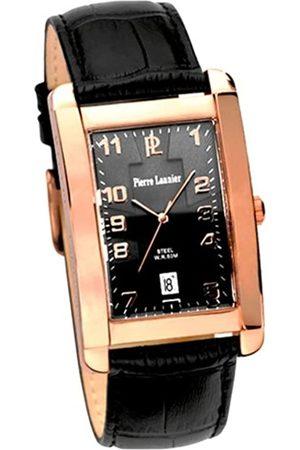 Pierre Lannier Hombre Relojes - 210B083 - Reloj analógico de Cuarzo para Hombre con Correa de Piel