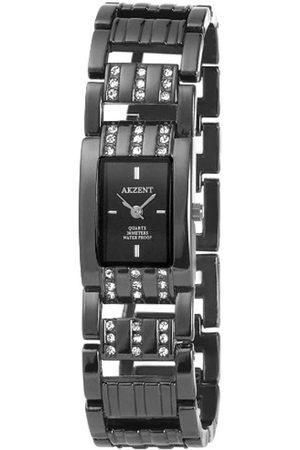 Akzent Mujer Relojes - SS8271000003 - Reloj analógico de mujer de cuarzo con correa de aleación negra - sumergible a 30 metros