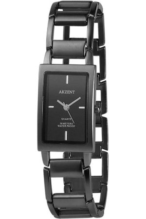 Akzent Mujer Relojes - SS7171000081 - Reloj analógico de mujer de cuarzo con correa de aleación negra - sumergible a 30 metros
