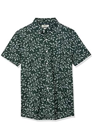 Goodthreads Hombre Casual - Slim-Fit Short-Sleeve Printed Poplin Shirt Camisa L