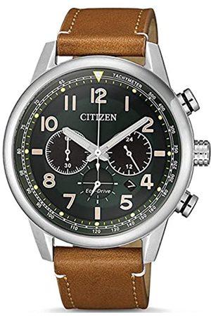 Citizen Hombre Relojes - Reloj Analógico para Hombre de Cuarzo con Correa en Cuero CA4420-21X