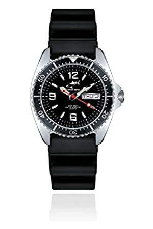 Chris Benz Relojes - CBM.S.KB.SW - Reloj analógico de Cuarzo Unisex con Correa de Caucho