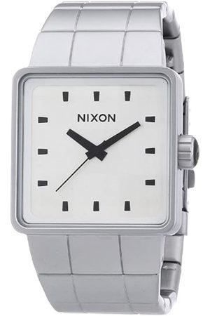 Nixon Hombre Relojes - The Quatro Sandedsteel/Whi A0131166-00 - Reloj analógico de Cuarzo para Hombre
