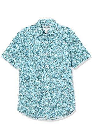 Amazon Slim-Fit Short-Sleeve Casual Poplin Shirt Camisa L