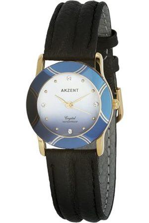 Akzent Mujer Relojes - SS7903500008 - Reloj analógico de mujer de cuarzo con correa de piel negra
