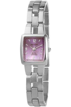 Akzent Mujer Relojes - SS7123800085 - Reloj analógico de mujer de cuarzo con correa de aleación plateada - sumergible a 30 metros