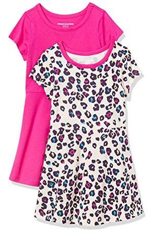 Amazon Niña De manga corta - Paquete de 2 Vestido de Manga Corta para niña Playwear-Dresses L