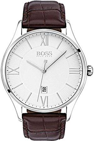 HUGO BOSS Hombre Relojes - Reloj Analógico para Hombre de Cuarzo con Correa en Cuero 1513555