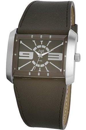 Just Uhren 48-S4929A-DBR - Reloj analógico de caballero de cuarzo con correa de piel