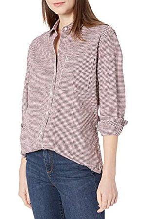 Goodthreads Mujer Blusas - Seersucker Long-Sleeve Side-Button Shirt Shirts