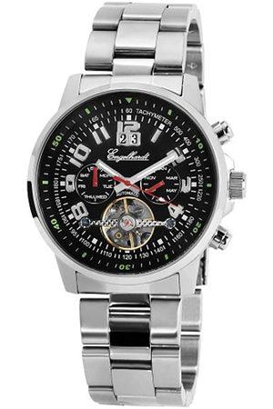 Engelhardt 387721028009 - Reloj analógico de caballero automático con correa de acero inoxidable plateada - sumergible a 50 metros
