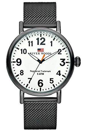 River Woods Hombre Relojes - Reloj Analógico para Hombre de Cuarzo con Correa en Acero Inoxidable RW420009