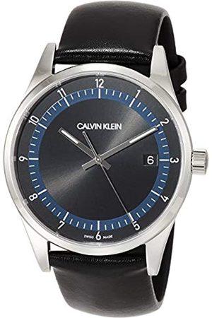 Calvin Klein Hombre Relojes - Reloj Analógico para Hombre de Cuarzo con Correa en Cuero Genuino KAM211C1