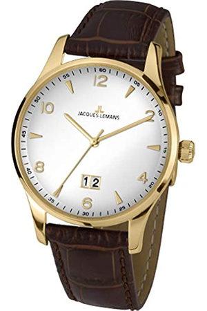 Jacques Lemans Hombre Relojes - JacquesLemansRelojAnalógicoparaHombredeCuarzoconCorreaenCuero1-1862ZD