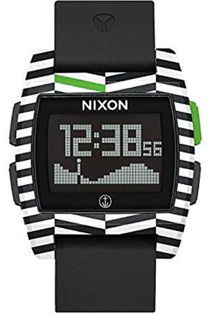 NIXON Hombre Relojes - Reloj Hombre de Digital con Correa en Silicona A1104-2954-00