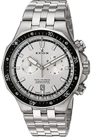 Edox Hombre Relojes - Reloj analógico para Hombres de Cuarzo con Correa en Acero Inoxidable 10109 3M AIN
