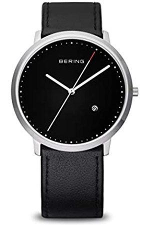 Bering Hombre Relojes - Classic - Reloj analógico de caballero de cuarzo con correa de piel negra - sumergible a 50 metros