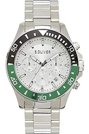 s.Oliver Hombre Relojes - Reloj Analógico para Hombre de Cuarzo con Correa en Acero Inoxidable SO-4239-MC