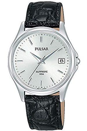 Seiko Reloj Analógico para Hombre de Cuarzo con Correa en Cuero PXHA71X1