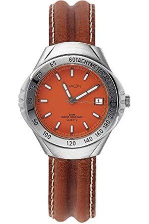 Shaon Hombre Relojes - Reloj Analógico para Hombre de Cuarzo con Correa en Cuero 35-6010-66