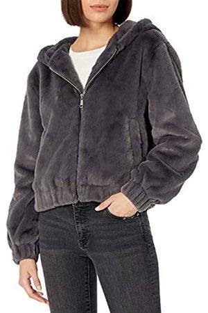 THE DROP Sloane - chamarra con capucha y cierre frontal de piel sintética para Mujer