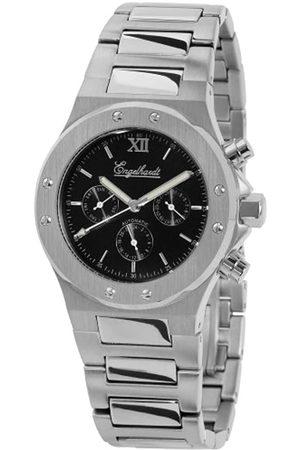 Engelhardt 386721028006 - Reloj analógico de caballero automático con correa de acero inoxidable plateada - sumergible a 100 metros