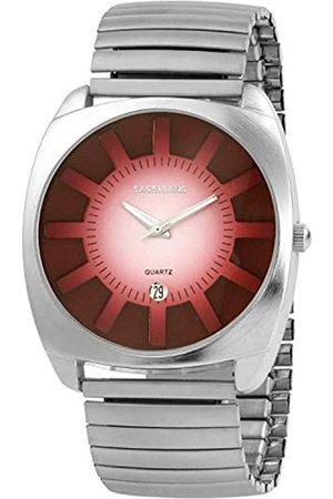 Excellanc 274025000004 - Reloj analógico de caballero de cuarzo con correa de aleación plateada