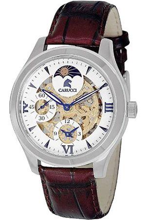 Carucci Lucca - Reloj analógico de caballero manual con correa de piel - sumergible a 50 metros