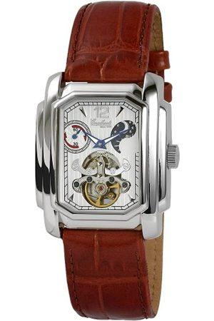 Engelhardt Hombre Relojes - 385722129040 - Reloj analógico de caballero automático con correa de piel - sumergible a 50 metros